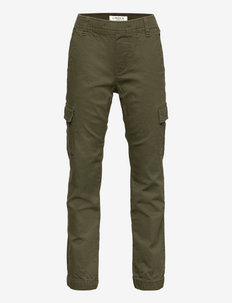 Trousers cargo loose - trousers - green