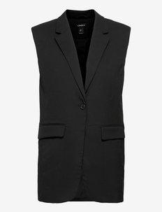 Vest Ester - gebreide vesten - black