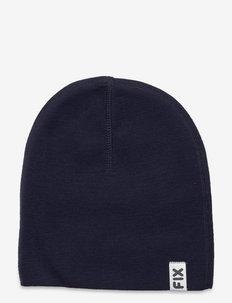 Knitted beanie FIX wool - beanie - blue