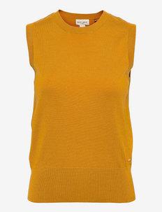 Vest Evelina - gebreide vesten - yellow