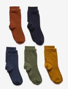 Socks 5p SB plain fashion col - skarpetki - khaki