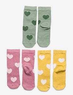 Sock 3p SG heart allover - skarpetki - yellow