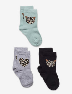 Sock 3p SG cat leo - skarpetki - aqua