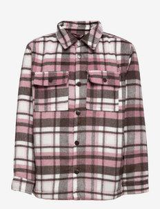 Jacket overshirt check Olivia - leichte jacken - pink