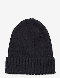 Knitted beanie basic rib - bonnet - black