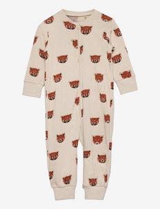 Pyjamas Red Panda at back - natdragter - beige