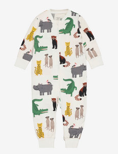 Pyjamas multi animals - natdragter - white