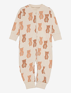Pyjamas Bear at back - natdragter - beige