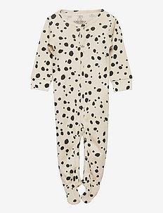 Pyjamas w foot Snow Leopard - natdragter - beige