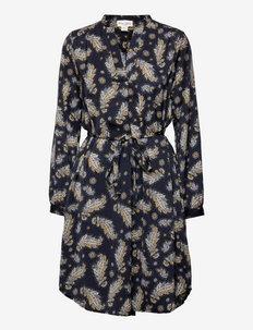 Dress Marissa print - skjortekjoler - blue