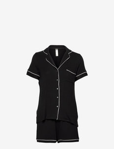 Soft Piping Pj Jersey Viscose - pyjamas - black