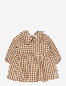 Dress gingham - kjoler - brown