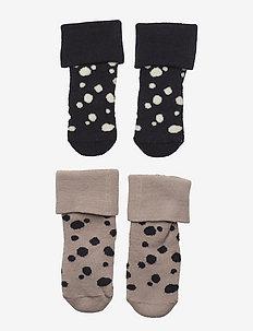 Sock 2p Baby with dots in terr - skarpetki - beige