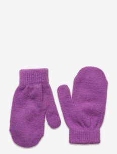 Mittens knitted cosy - vanter - lilac