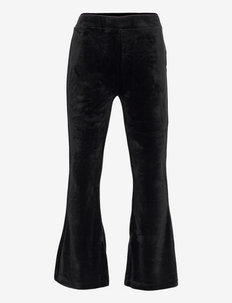 Trousers Vally flare velour - trousers - black