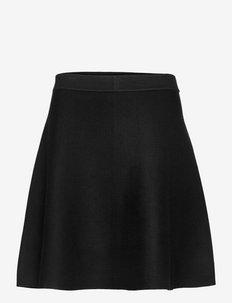 Skirt Dagmar knitted - midi garuma svārki - black