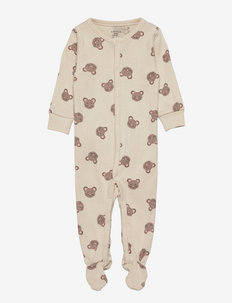 Pyjamas w foot Mouse faces - natdragter - beige