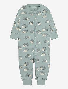 Pyjamas Hedgehog aop - natdragter - aqua