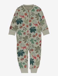 Pyjamas Chestnut aop - natdragter - green