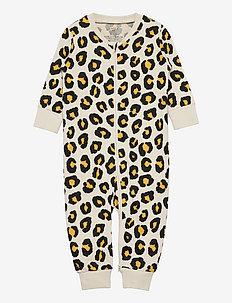 Pyjamas Leopard aop - natdragter - beige