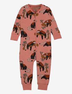 Pyjamas Red Panda aop - natdragter - pink