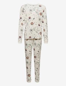 Pajamas Galaxy Moon Planet Uni - sets - white