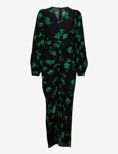 Dress Sammie gathering - bodycon jurken - black