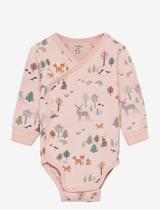 Body wrap aop forest - manches longues - pink