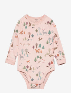 Body aop forest - manches longues - pink