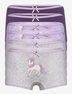 Boxer Unicorn AOP 6 pack - culottes et bas - lilac