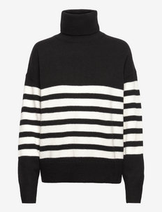 Polo sweater Karla - rullekraver - black