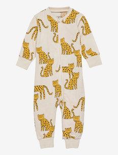 Pyjamas Leopard animals - schlafoveralls - beige