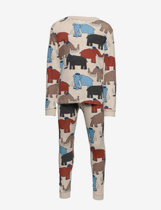 Pajama CoP Mammoth multi aop - sets - beige