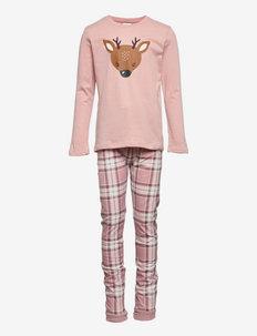 Pajama Rain deer Check - sets - pink
