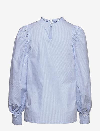 Lindex Blouse Ingrid- Bluzki & Koszule Light Blue