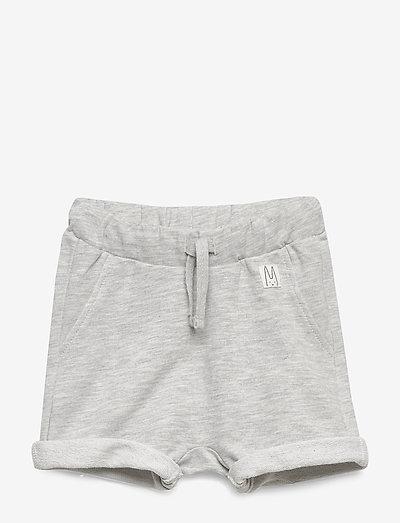 Shorts solid fleece - shorts - light grey melange