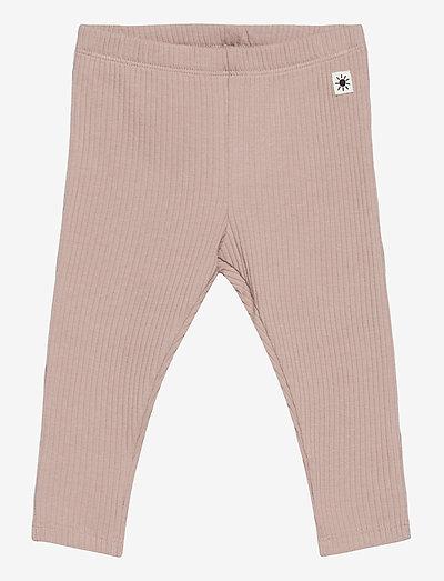 Leggings basic rib - leggings - beige