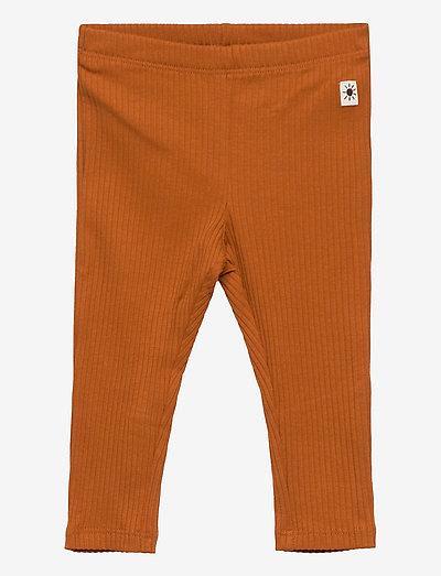 Leggings basic rib - leggings - brown