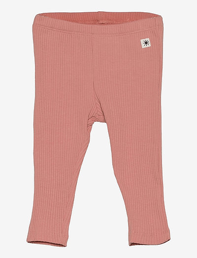 Leggings basic rib - leggings - pink