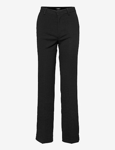 Trousers Fiona - straight leg trousers - black