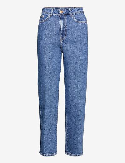 Trousers Hanna retro blue - mom jeans - blue