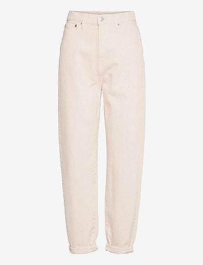 Trousers denim Pam ecru - mom jeans - beige