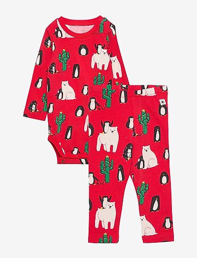 Set Body leggings Funny xmas - pyjamas - red