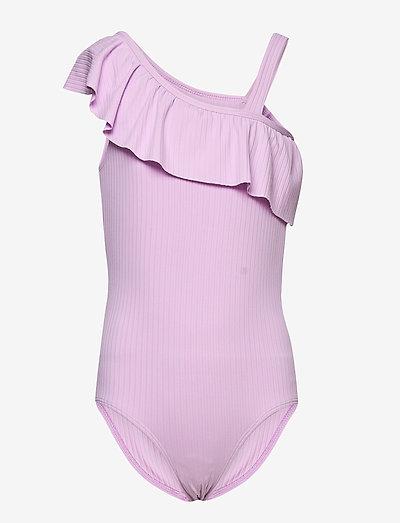 Swimsuit SG RIb one shoulder - baddräkter - lilac