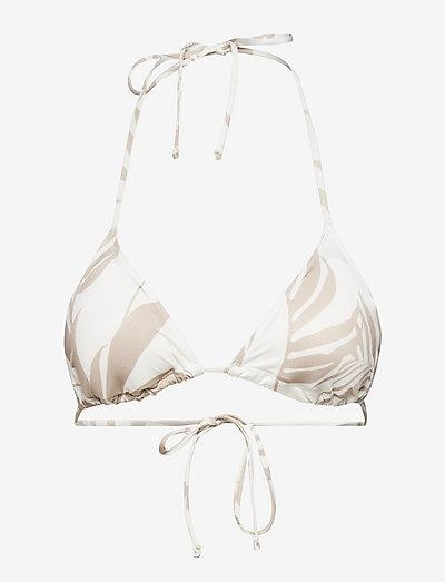 Swim Bra Janine Drawstring Tri - góry strojów kąpielowych - white