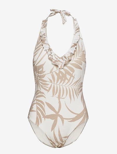 Swimsuit Janine Swimsuit halte - badpakken - white