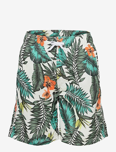 Swimshorts BB tropical leaves - badbyxor - khaki