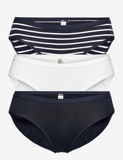 Brief  3 pack Bikini reg print - slips - blue