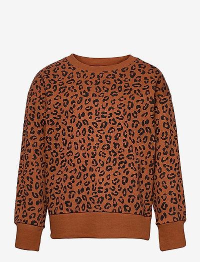 Sweater Leo AOP street online - sweatshirts - brown