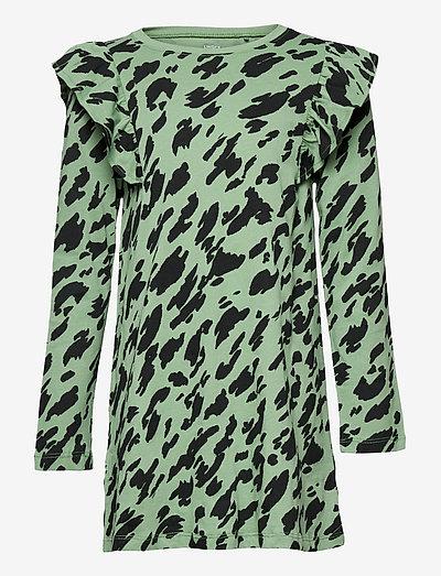 Top long basic - langärmelig - green